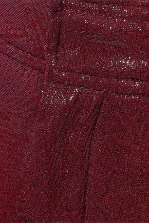 ROLAND MOURET Costello metallic silk-blend jacquard wide-leg pants