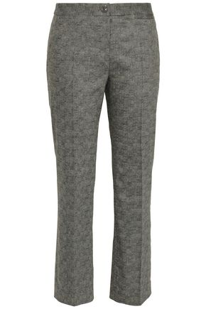 BOUTIQUE MOSCHINO Wool-blend woven bootcut pants