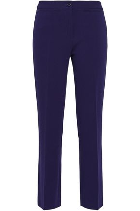 BOUTIQUE MOSCHINO Cropped stretch-crepe bootcut pants