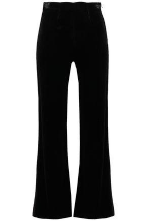 ROLAND MOURET Connor velvet-paneled cady flared pants