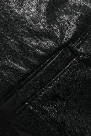 PHILOSOPHY di LORENZO SERAFINI Broderie anglaise-trimmed coated woven slim-leg pants