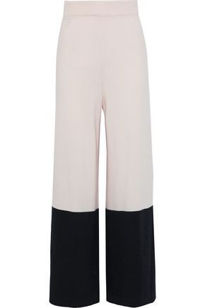 TEMPERLEY LONDON Explorer two-tone wool and cashmere-blend wide-leg pants