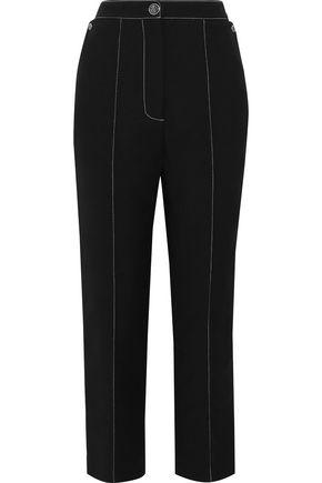 TEMPERLEY LONDON Cotton-blend twill straight-leg pants