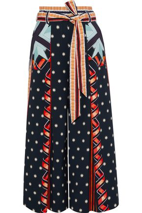 TEMPERLEY LONDON Printed cotton-blend culottes