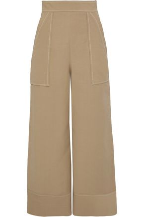 TEMPERLEY LONDON Margot cotton-blend twill wide-leg pants