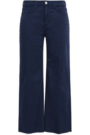 L'AGENCE Danica cropped high-rise wide-leg jeans