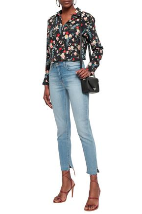 L'AGENCE Cropped high-rise slim-leg jeans