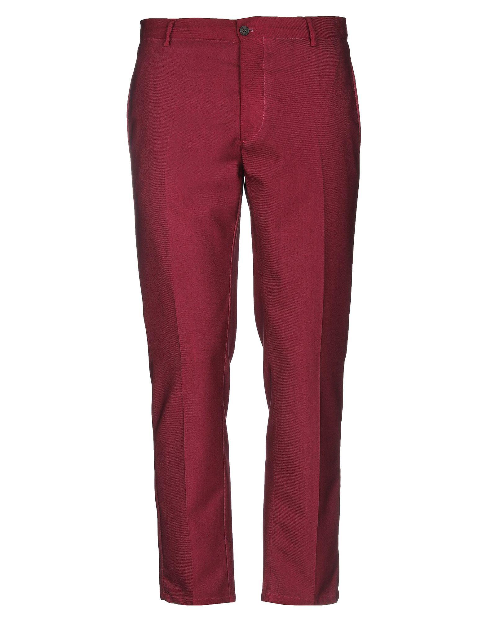 《セール開催中》BE ABLE メンズ パンツ ボルドー 33 バージンウール 100%