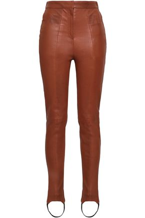 BALMAIN Leather skinny pants