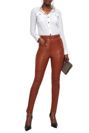 BALMAIN Leather skinny pants