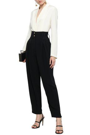 BALMAIN Crepe wide-leg pants
