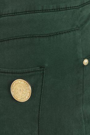 BALMAIN Sateen slim-leg pants