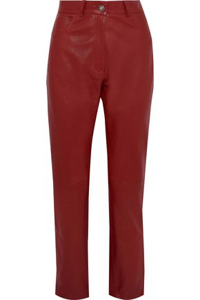MAGDA BUTRYM Evansville leather straight-leg pants