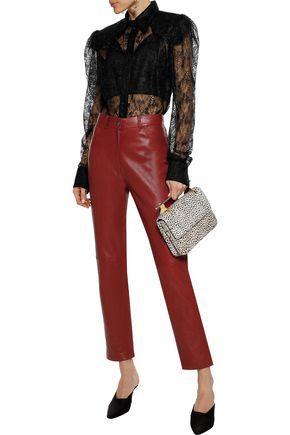 MAGDA BUTRYM Evansville leather straight-leg pants