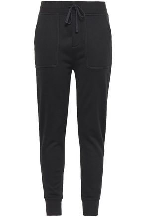JAMES PERSE French cotton-blend terry track pants