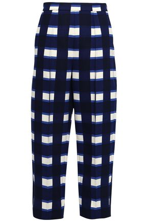 MARNI Checked woven tapered trousers