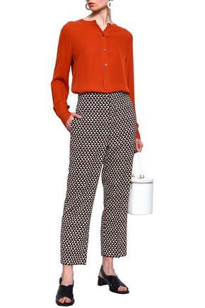 MARNI Printed wool-twill straight-leg pants