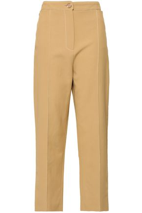 TEMPERLEY LONDON Cotton-blend twill straight-leg pants