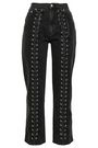 McQ Alexander McQueen Lace-up high-rise straight-leg jeans