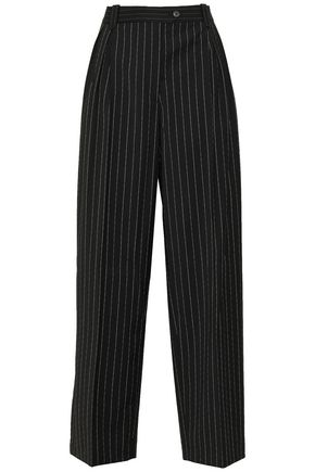 McQ Alexander McQueen Pinstriped crepe wide-leg pants