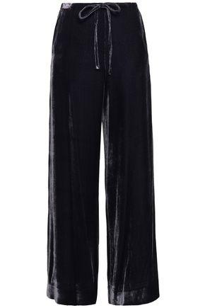 McQ Alexander McQueen Velvet wide-leg pants