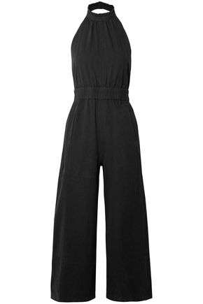 APIECE APART Archer cropped cotton halterneck jumpsuit