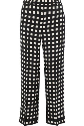 MAX MARA Gilda cropped checked woven wide-leg pants