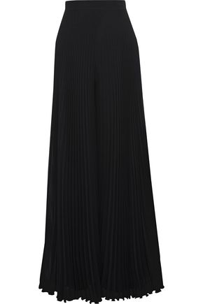 MAX MARA Liegi pleated chiffon wide-leg pants