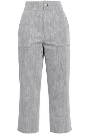 VANESSA BRUNO Luna frayed high-rise straight-leg jeans