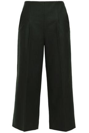 CHALAYAN Cropped virgin wool-blend felt wide-leg pants