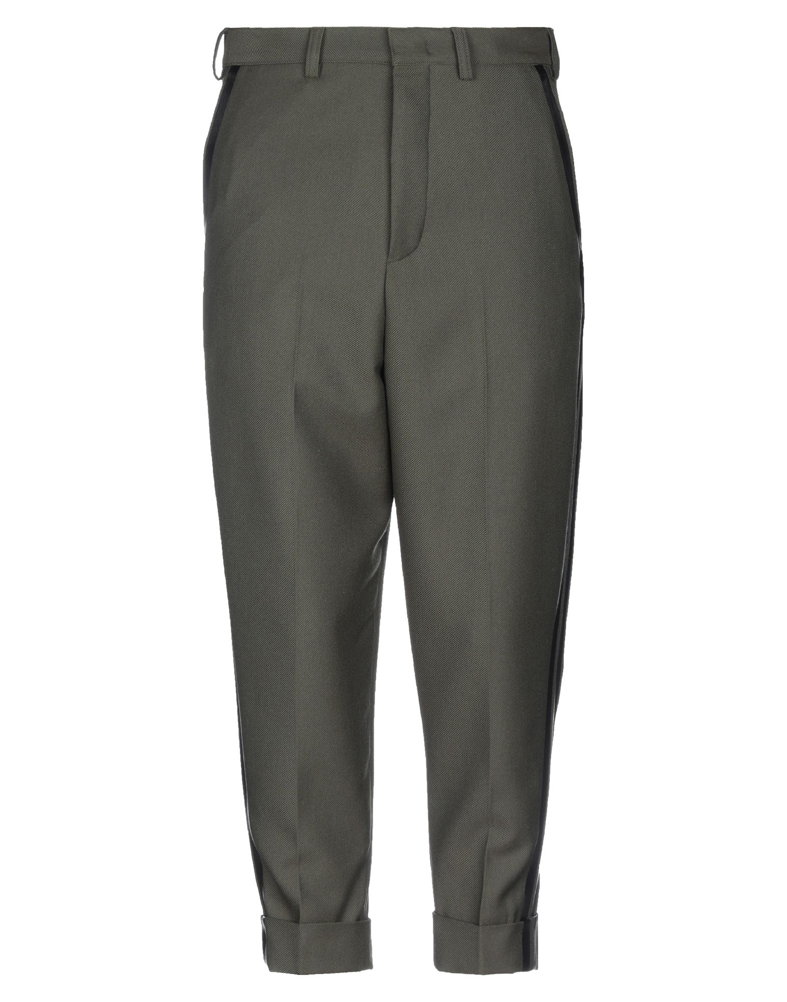 《セール開催中》PT Torino メンズ カプリパンツ ミリタリーグリーン 46 バージンウール 50% / ポリエステル 50%
