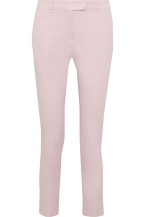 MAX MARA Patroni cropped cotton-blend twill tapered pants