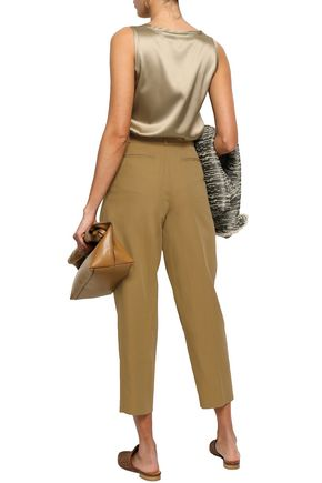 VANESSA BRUNO Iakiri cotton-blend twill tapered pants