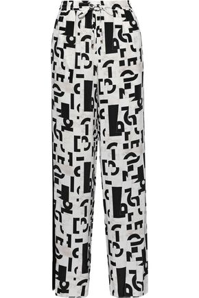MAX MARA Fiocco printed silk wide-leg pants