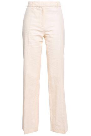 VANESSA BRUNO Gauvain cotton-blend piqué straight-leg pants