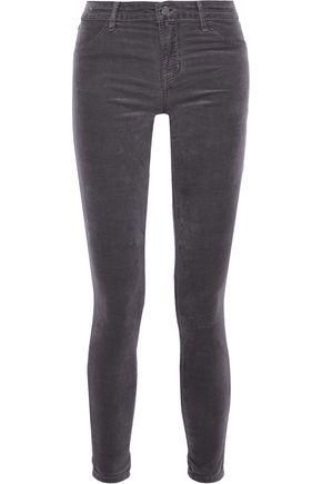 J BRAND Cotton-blend velvet skinny pants