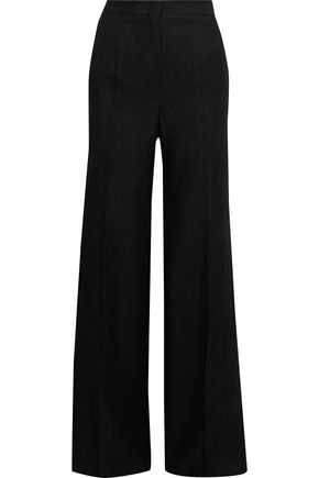 MAX MARA Sevres ramie and linen-blend twill wide-leg pants