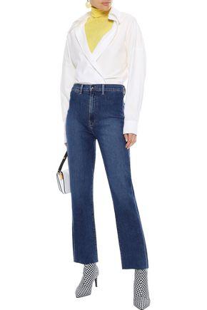 J BRAND Faded high-rise straight-leg jeans
