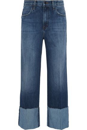 J BRAND Faded high-rise wide-leg jeans