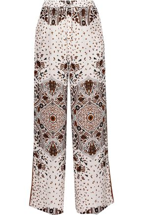 MAX MARA Alpino printed silk wide-leg pants