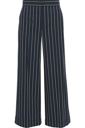 MAX MARA Pinstriped stretch-cotton wide-leg pants
