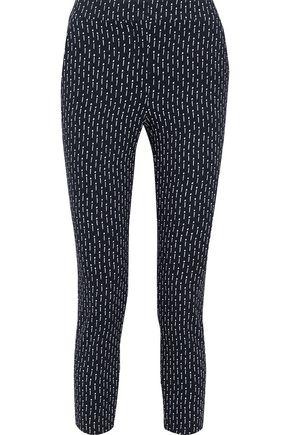 MAX MARA Veber cropped printed jersey skinny pants