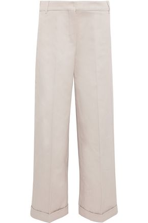 MAX MARA Vesuvio cotton-twill wide-leg pants