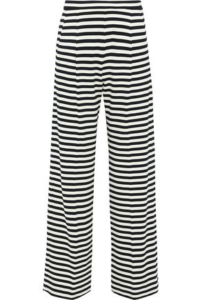MAX MARA Vito striped stretch-jersey wide-leg pants