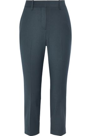 THEORY Treeca cropped wool-blend slim-leg pants