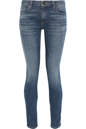 ALICE + OLIVIA Low-rise faded skinny jeans