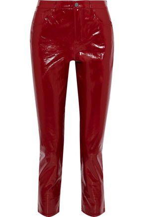 J BRAND Ruby cropped patent-leather slim-leg pants