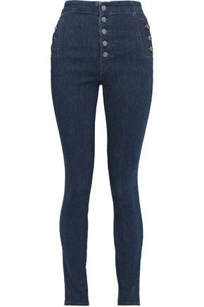 J BRAND Natasha metallic high-rise skinny jeans