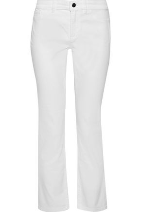THEORY Cropped mid-rise slim-leg jeans