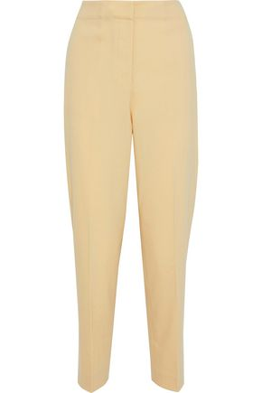 THEORY Cropped wool-blend straight-leg pants